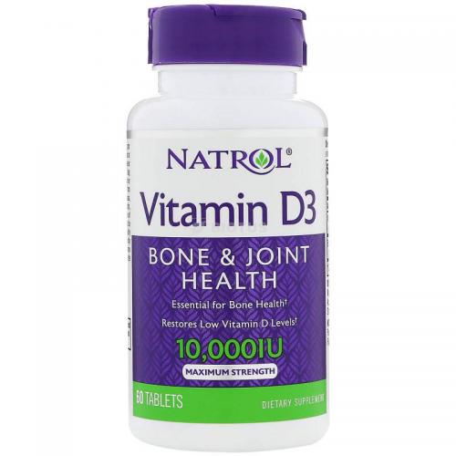 Vitamin D3 10 000 Natrol (60 таблеток)