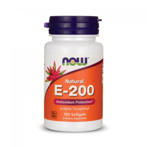 Витамин E-200 NOW 100 мягких капсул