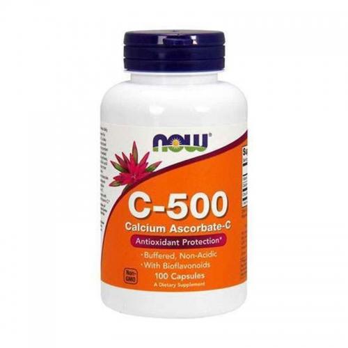 Vitamine C 500 мг Calcium ascorbate (100 капс) NOW