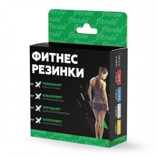 Набор Фитнес-резинок для ног FitRule 5 шт.