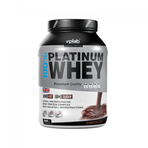 Протеин 100% Platinum Whey VP Lab (908 г)