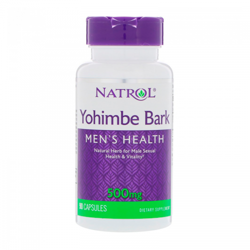 Бустер тестостерона Yohimbe (Йохимбе) Bark Natrol (500 мг, 90 капсул)
