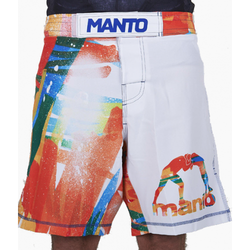 Шорты Manto Fightshorts Marker White - S